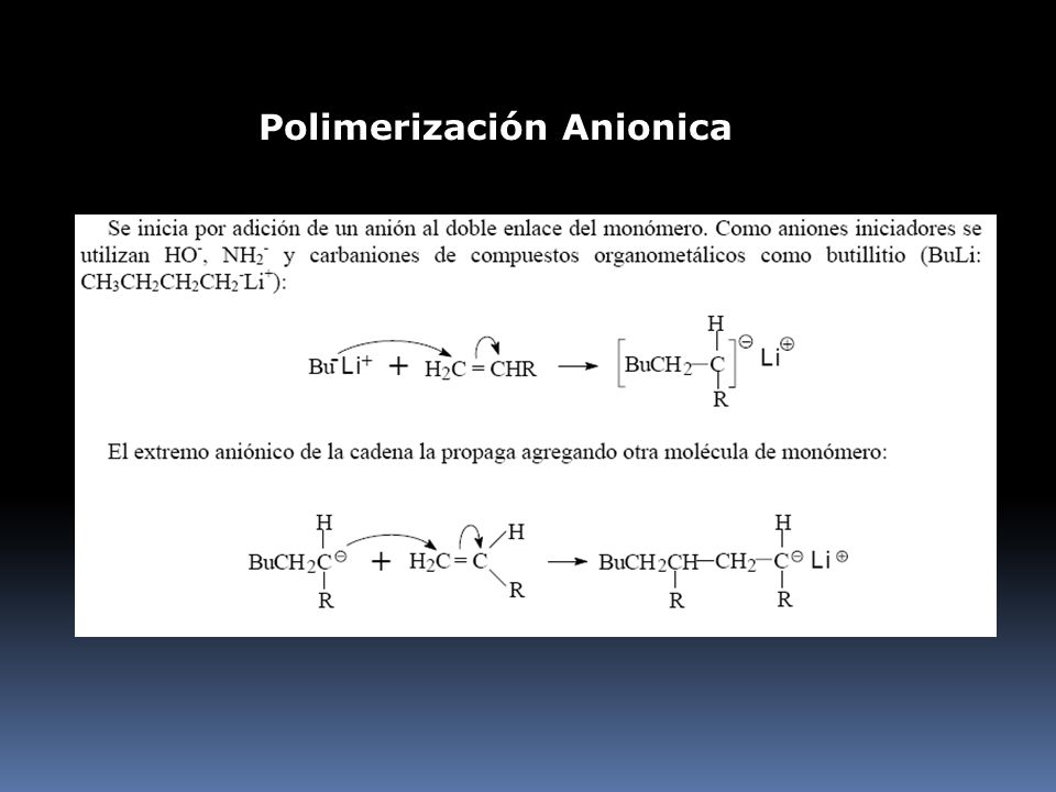 Polimerización Anionica