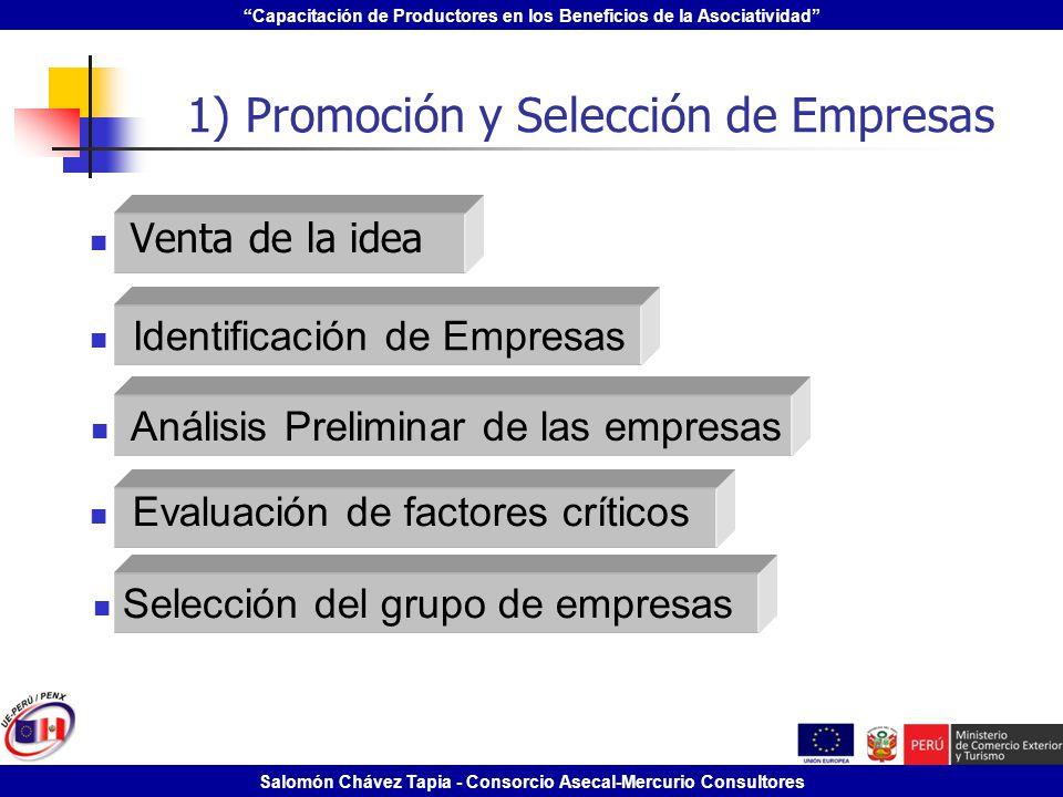1) Promoción y Selección de Empresas
