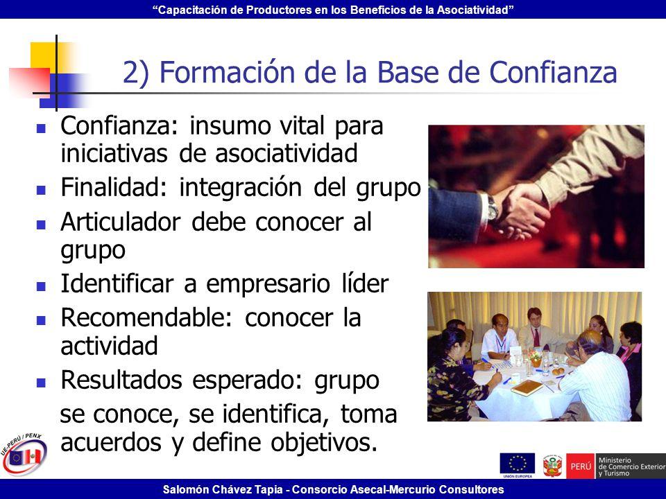 2) Formación de la Base de Confianza