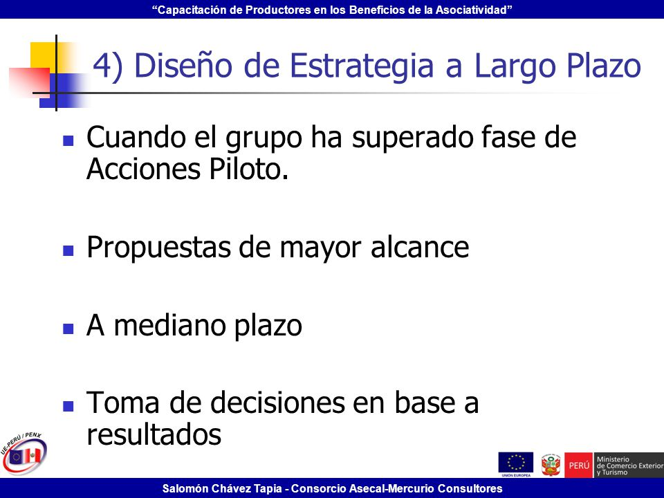 4) Diseño de Estrategia a Largo Plazo