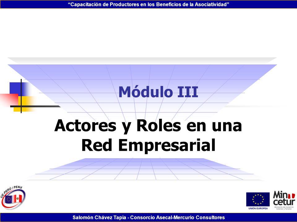 Actores y Roles en una Red Empresarial