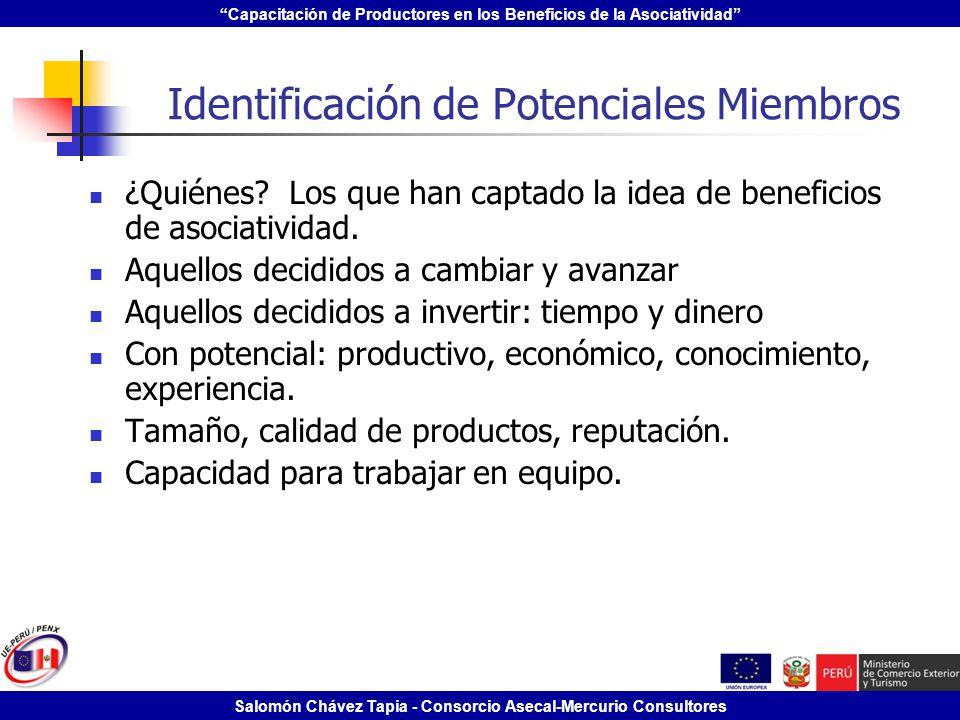 Identificación de Potenciales Miembros