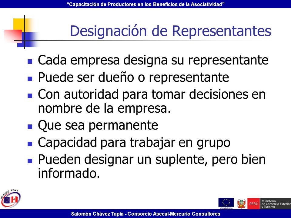 Designación de Representantes
