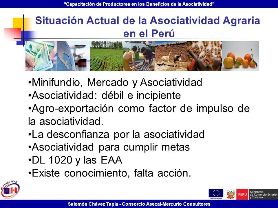 Situación Actual de la Asociatividad Agraria
