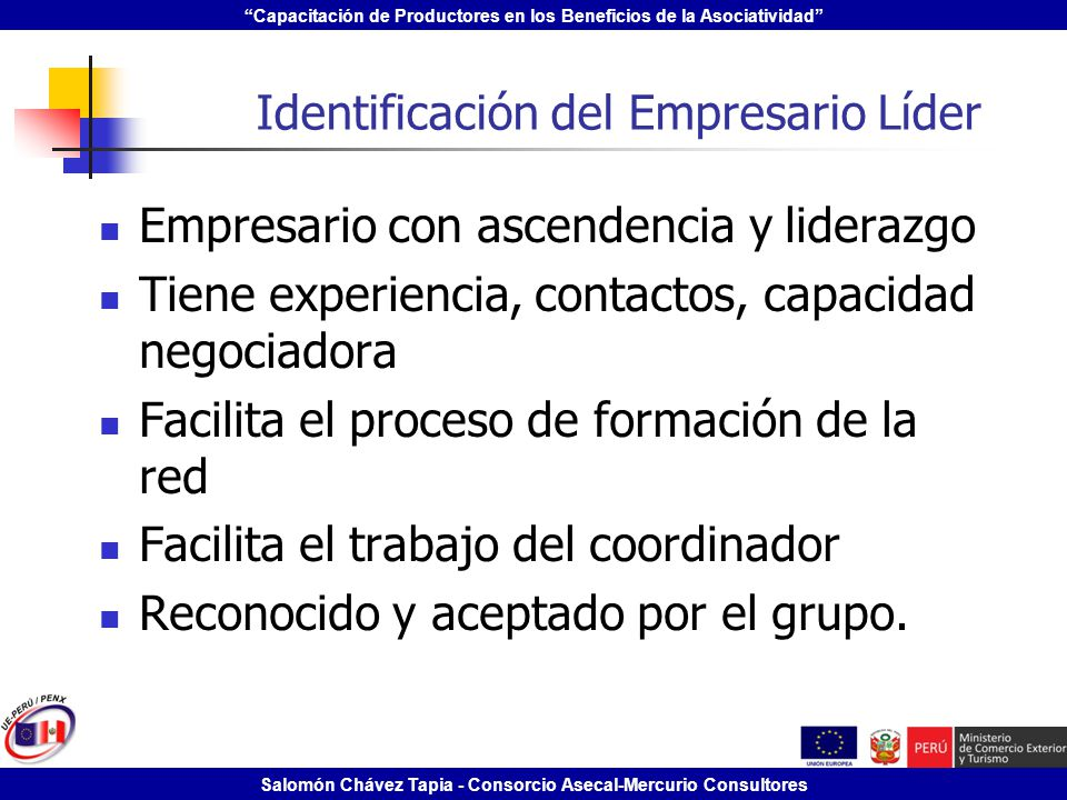 Identificación del Empresario Líder