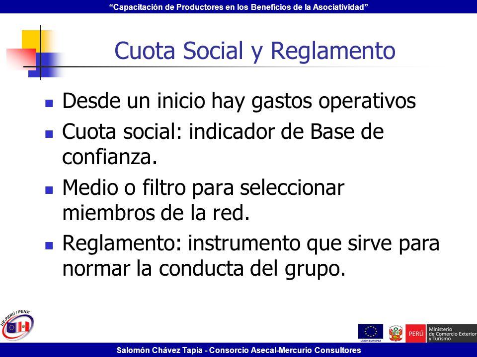 Cuota Social y Reglamento