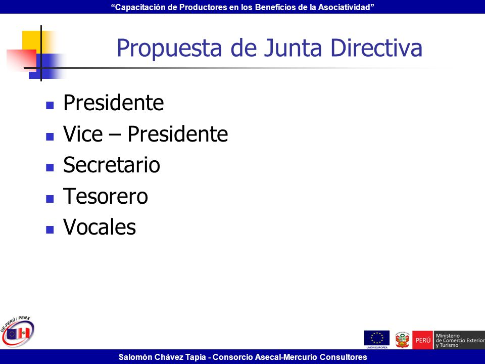 Propuesta de Junta Directiva