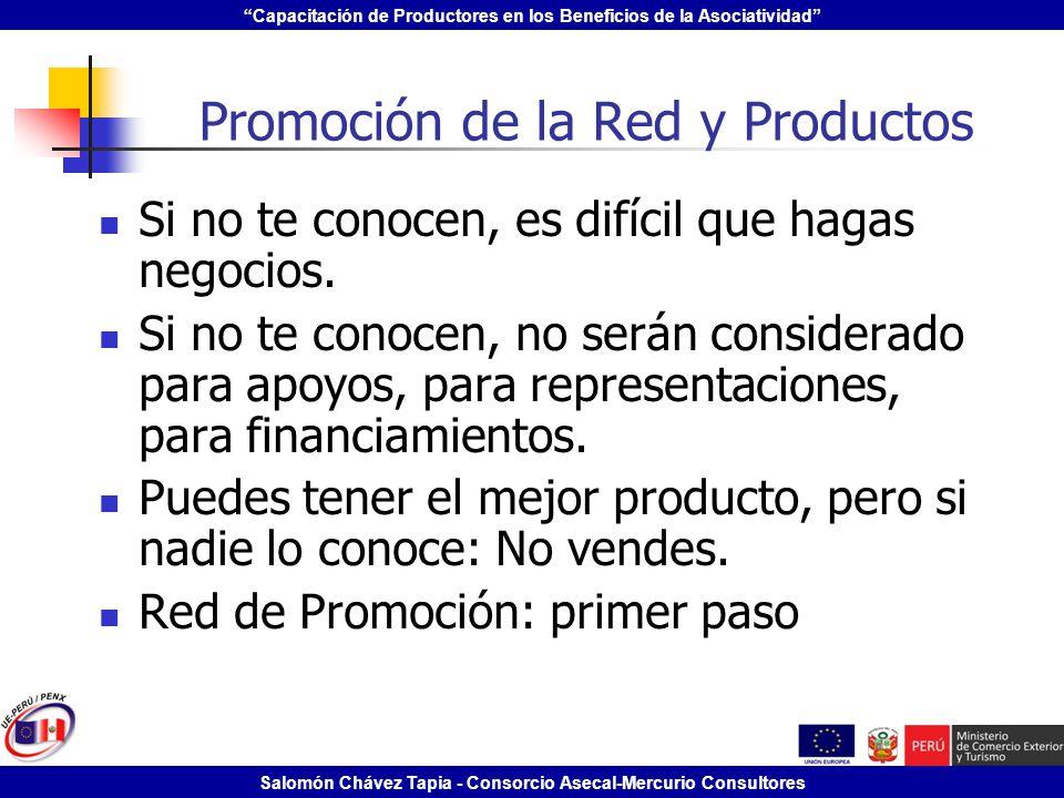 Promoción de la Red y Productos