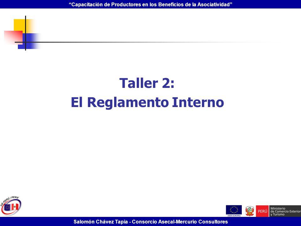 Taller 2: El Reglamento Interno