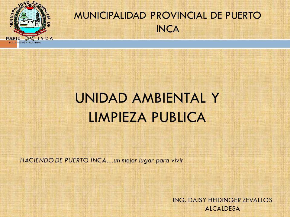 UNIDAD AMBIENTAL Y LIMPIEZA PUBLICA