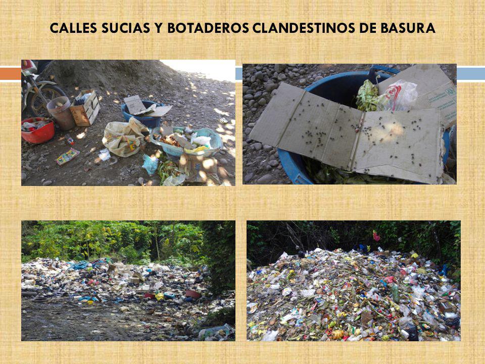 CALLES SUCIAS Y BOTADEROS CLANDESTINOS DE BASURA