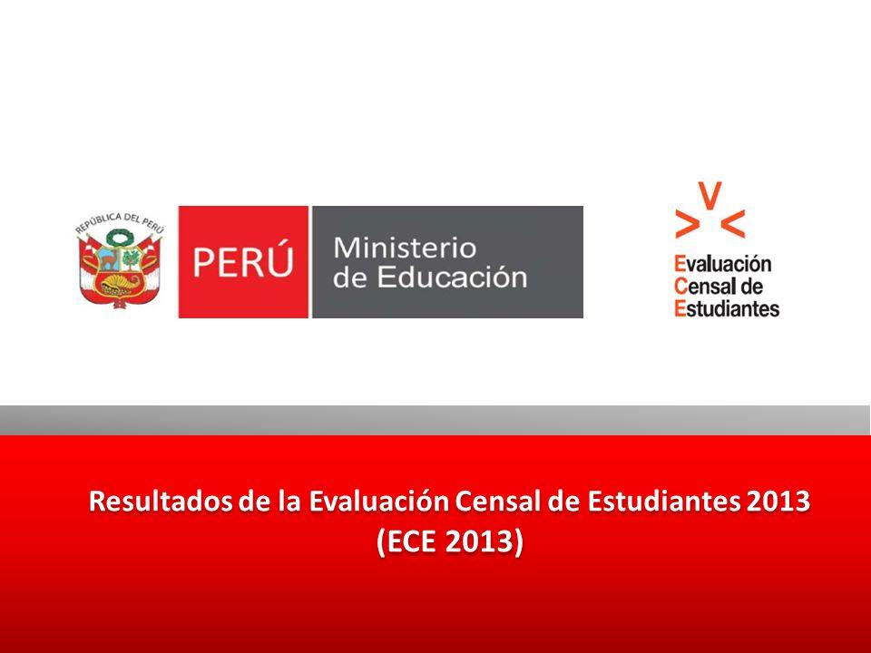 Resultados de la Evaluación Censal de Estudiantes 2013