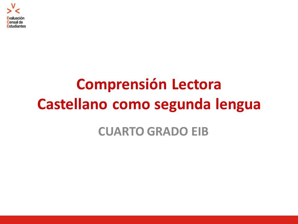 Comprensión Lectora Castellano como segunda lengua