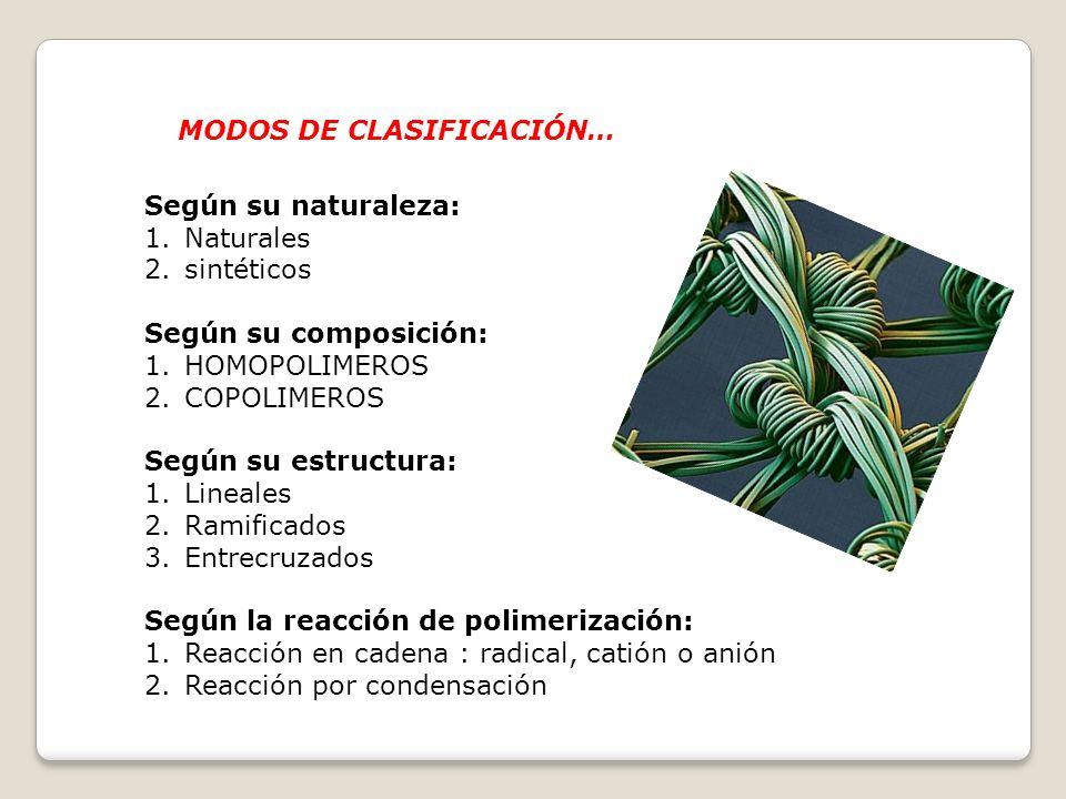 MODOS DE CLASIFICACIÓN…