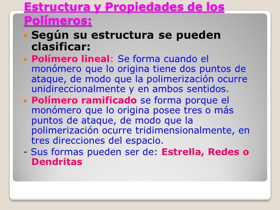 Estructura y Propiedades de los Polímeros: