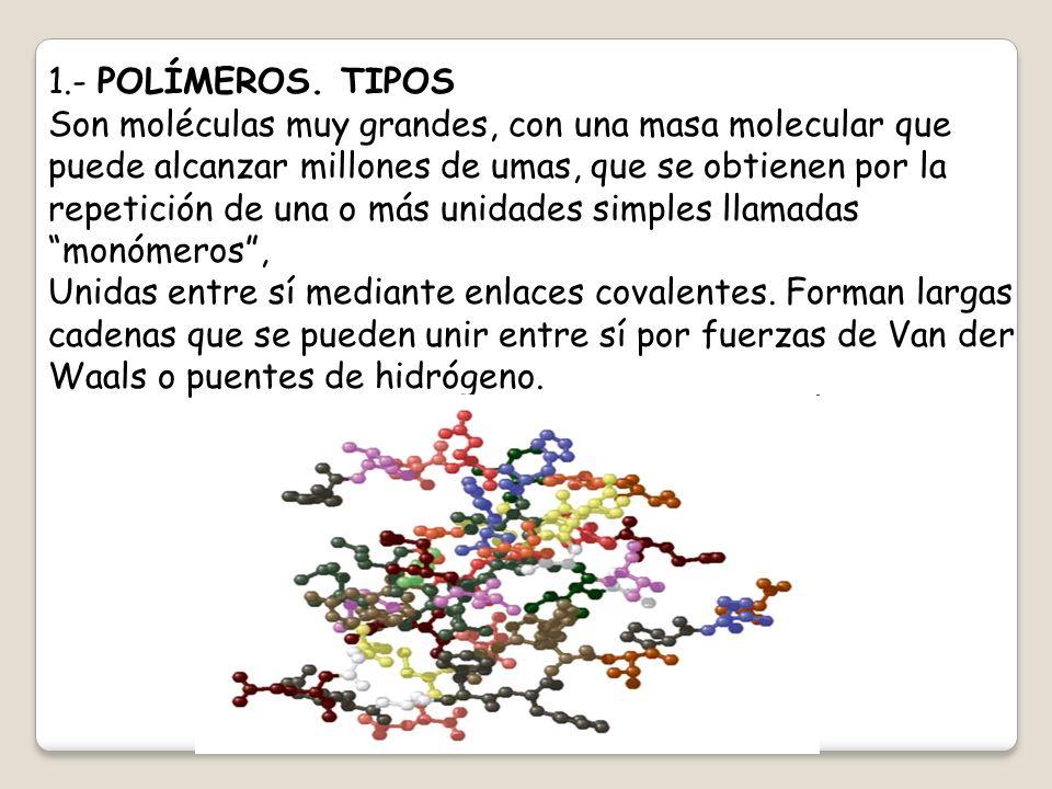 1.- POLÍMEROS. TIPOS