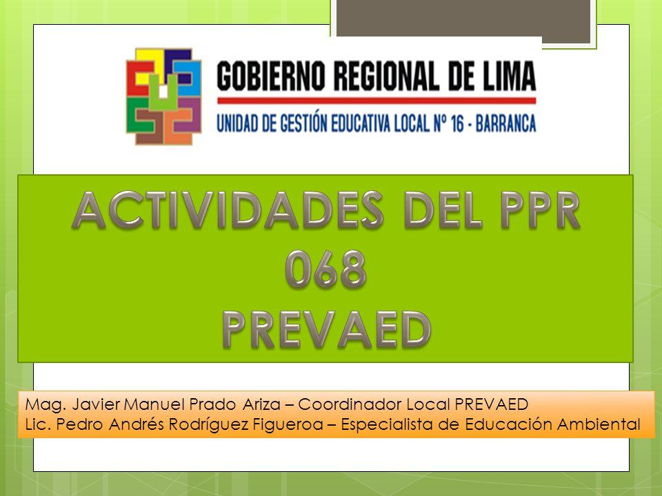 ACTIVIDADES DEL PPR 068 PREVAED