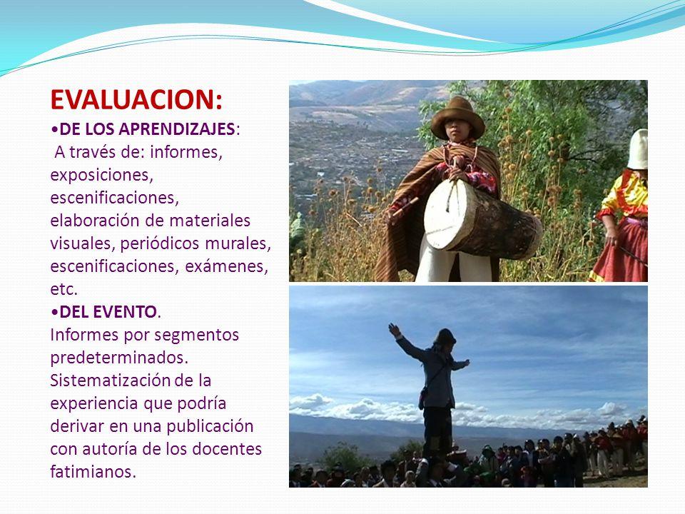 EVALUACION: DE LOS APRENDIZAJES: