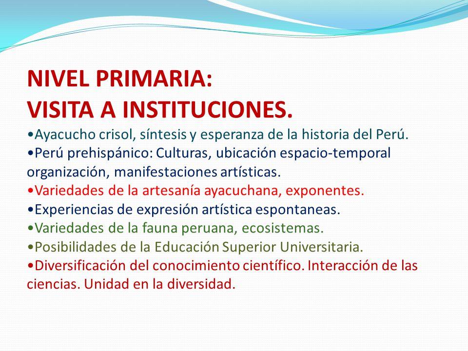 VISITA A INSTITUCIONES.