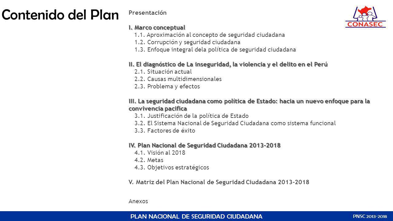 PLAN NACIONAL DE SEGURIDAD CIUDADANA