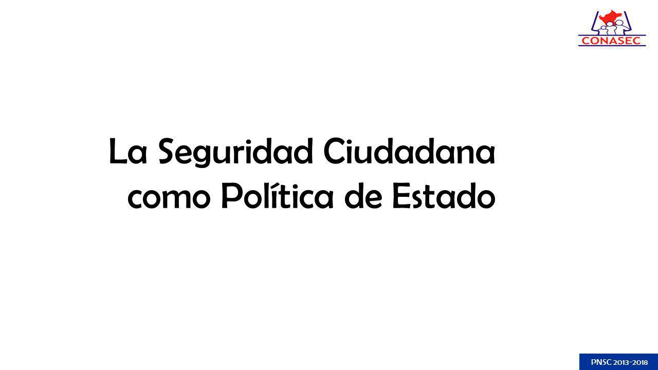La Seguridad Ciudadana como Política de Estado