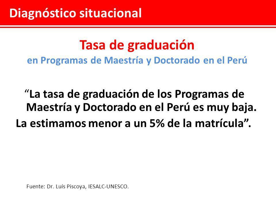 en Programas de Maestría y Doctorado en el Perú
