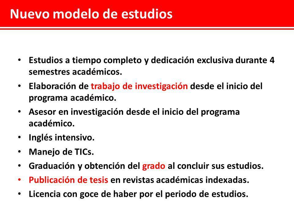 Nuevo modelo de estudios