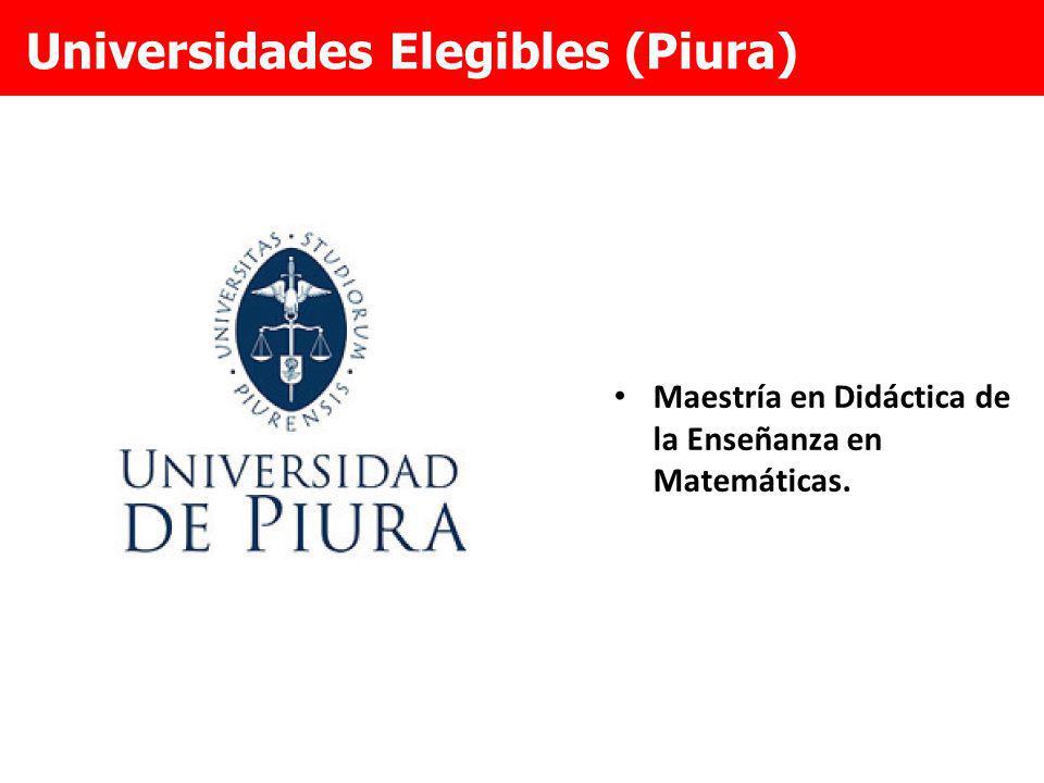 Universidades Elegibles (Piura)