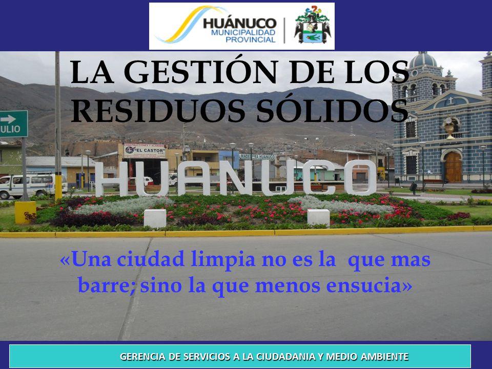LA GESTIÓN DE LOS RESIDUOS SÓLIDOS