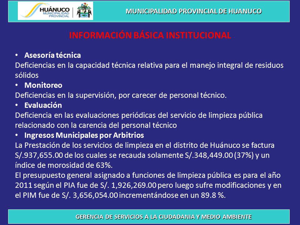 INFORMACIÓN BÁSICA INSTITUCIONAL