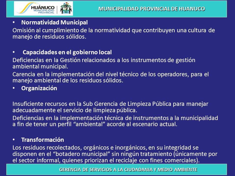 Normatividad Municipal