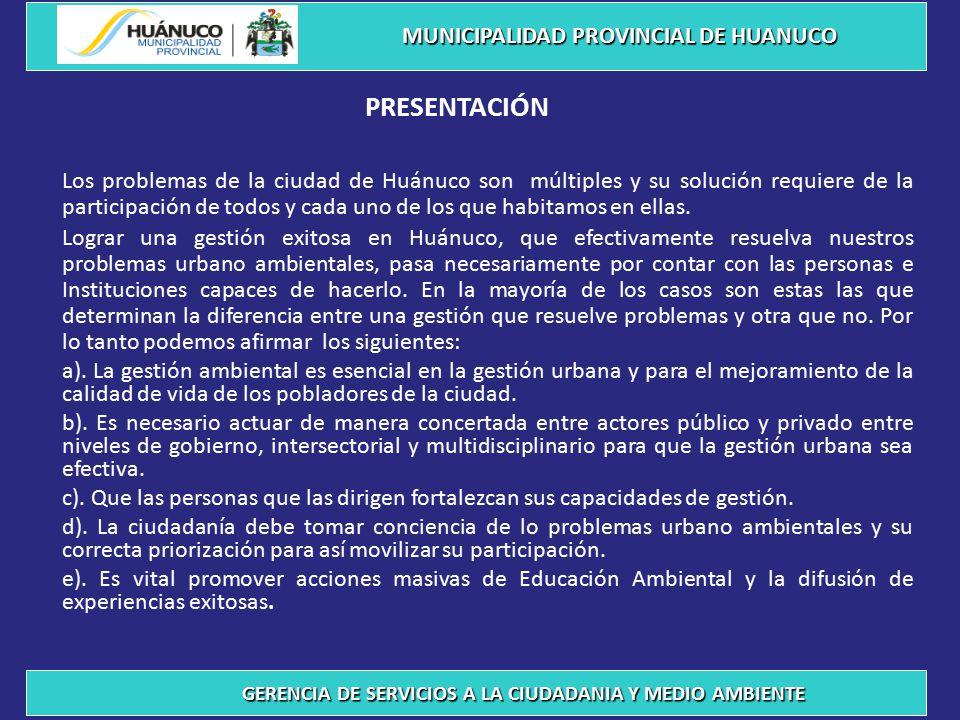 PRESENTACIÓN MUNICIPALIDAD PROVINCIAL DE HUANUCO