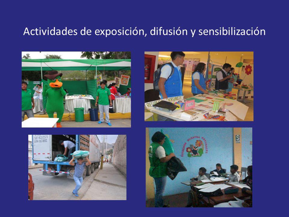 Actividades de exposición, difusión y sensibilización