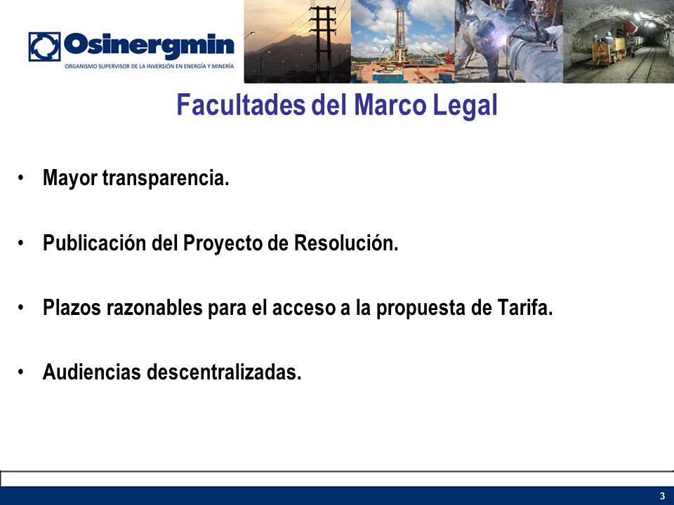 Facultades del Marco Legal