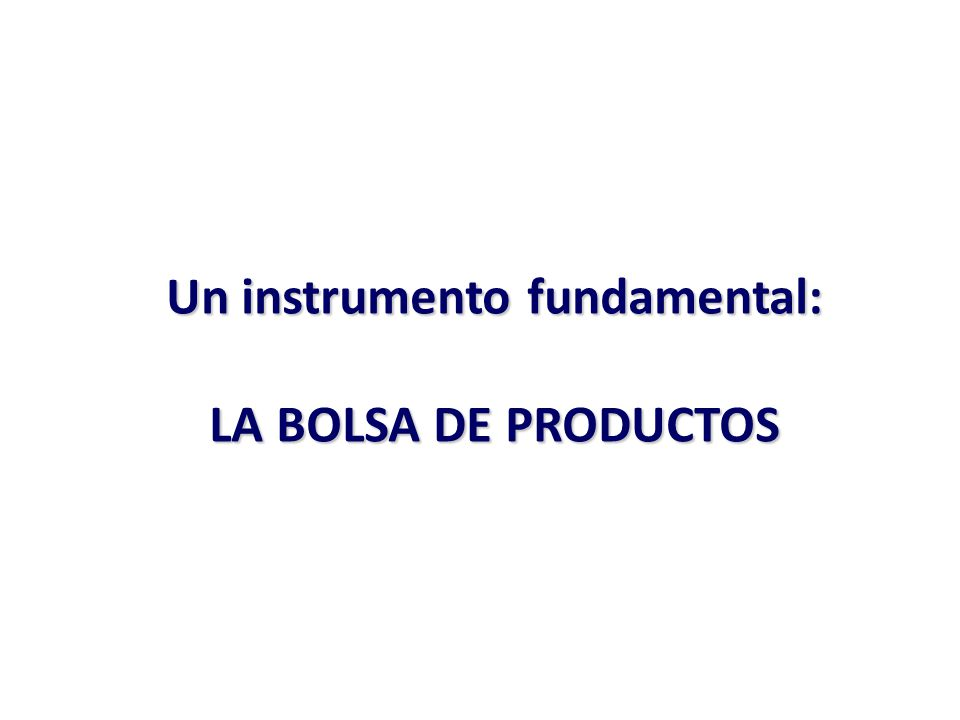 Un instrumento fundamental:
