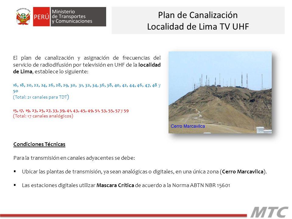 Localidad de Lima TV UHF