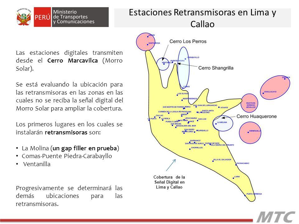 Cobertura de la Señal Digital en Lima y Callao