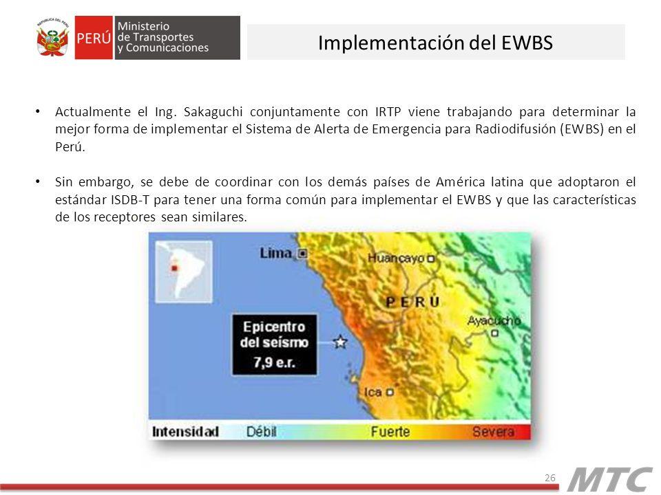 Implementación del EWBS