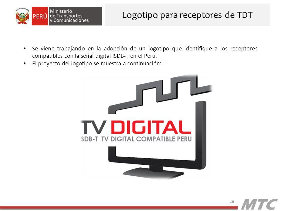 Logotipo para receptores de TDT