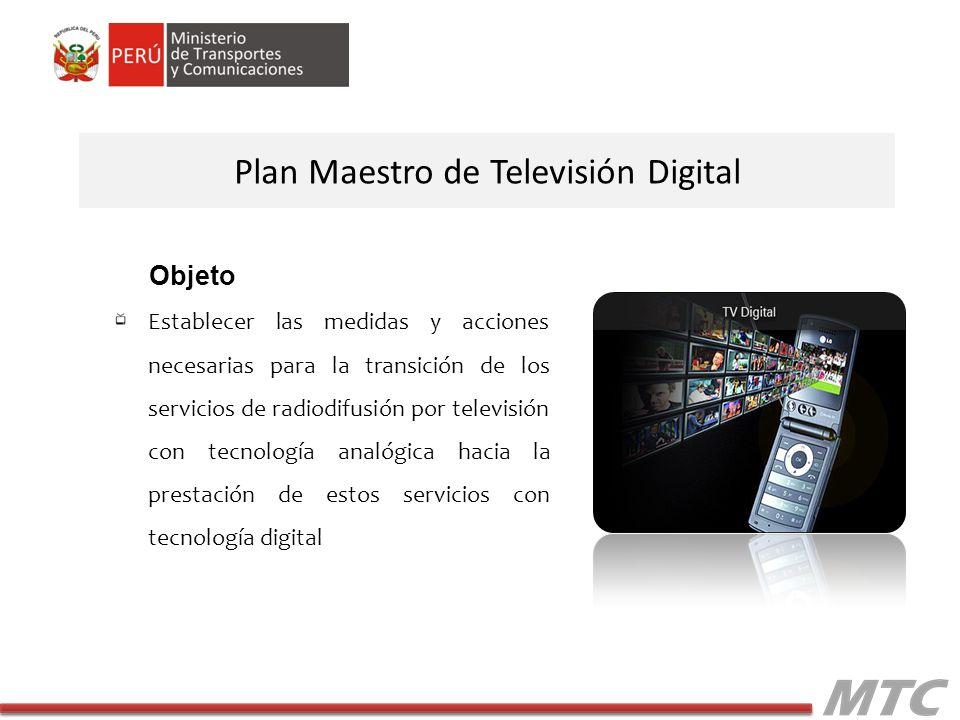 Plan Maestro de Televisión Digital