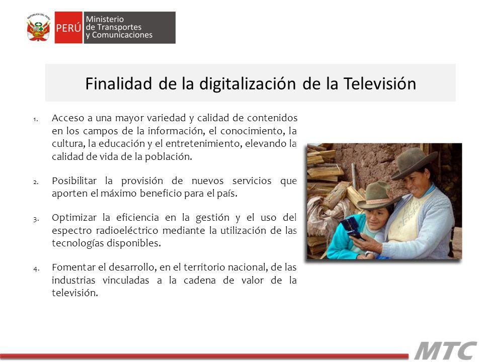 Finalidad de la digitalización de la Televisión