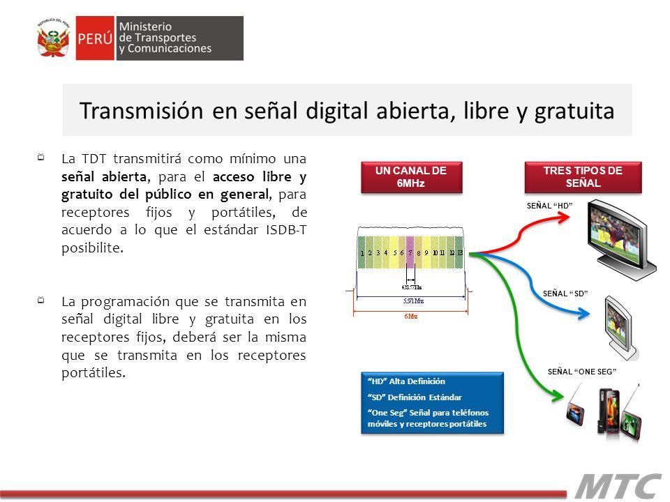 Transmisión en señal digital abierta, libre y gratuita