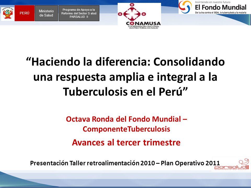 Haciendo la diferencia: Consolidando una respuesta amplia e integral a la Tuberculosis en el Perú