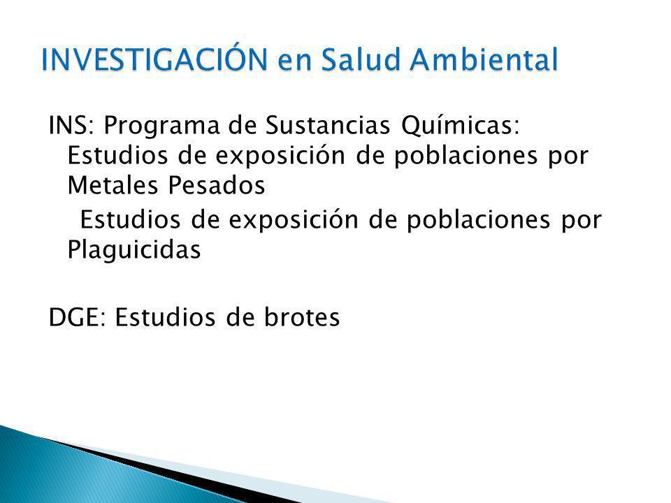 INVESTIGACIÓN en Salud Ambiental