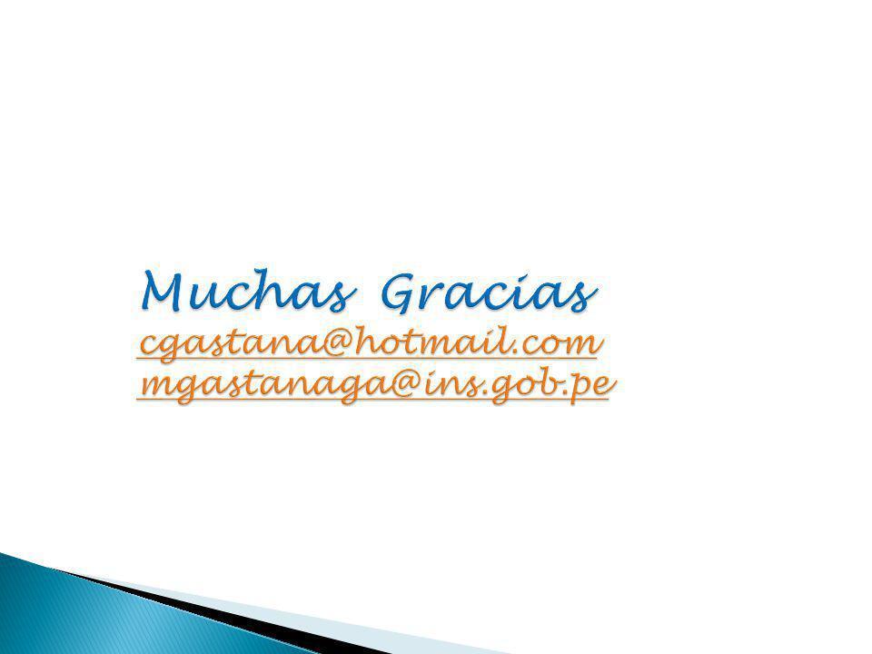 Muchas Gracias cgastana@hotmail.com mgastanaga@ins.gob.pe