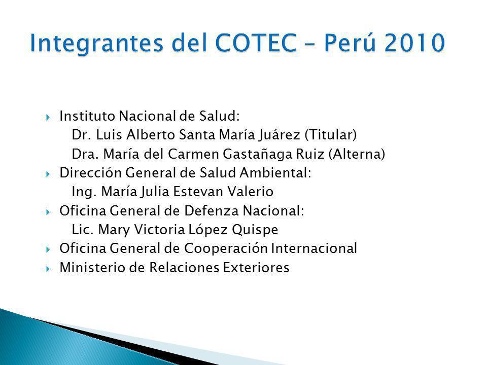 Integrantes del COTEC – Perú 2010