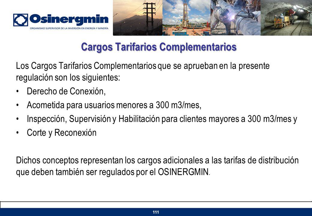 Cargos Tarifarios Complementarios