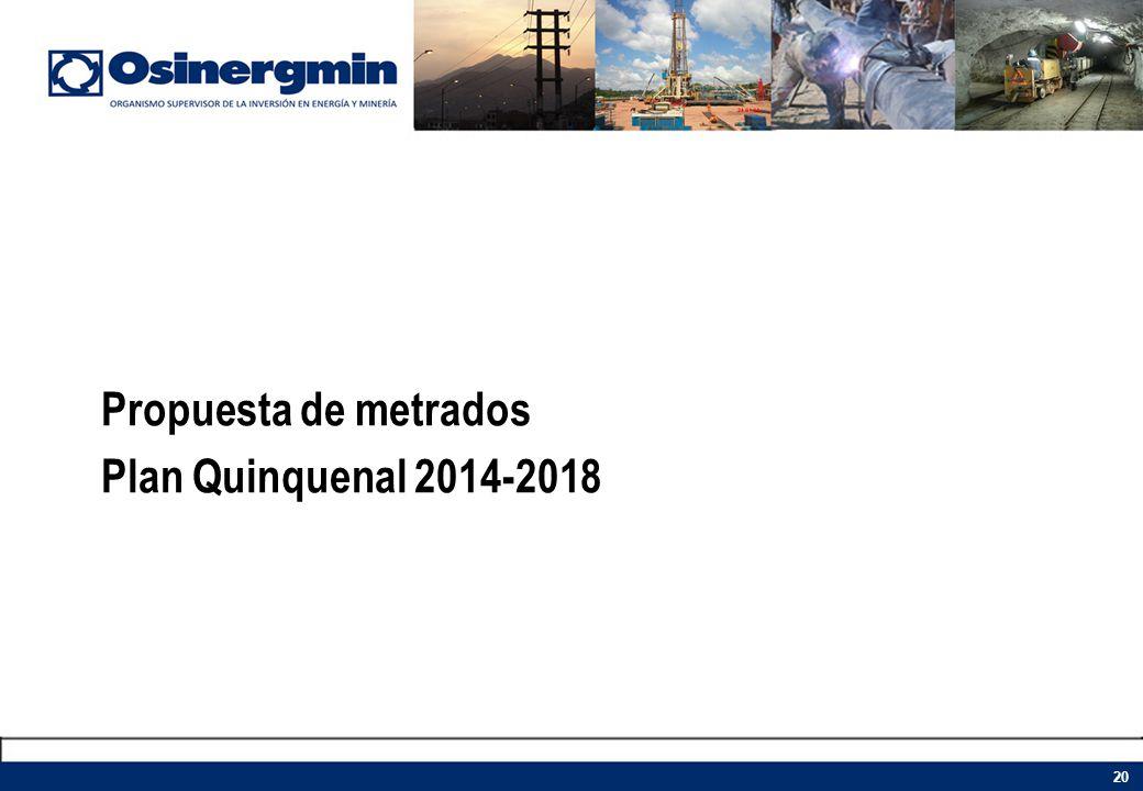 Propuesta de metrados Plan Quinquenal 2014-2018