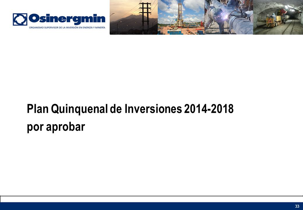 Plan Quinquenal de Inversiones 2014-2018