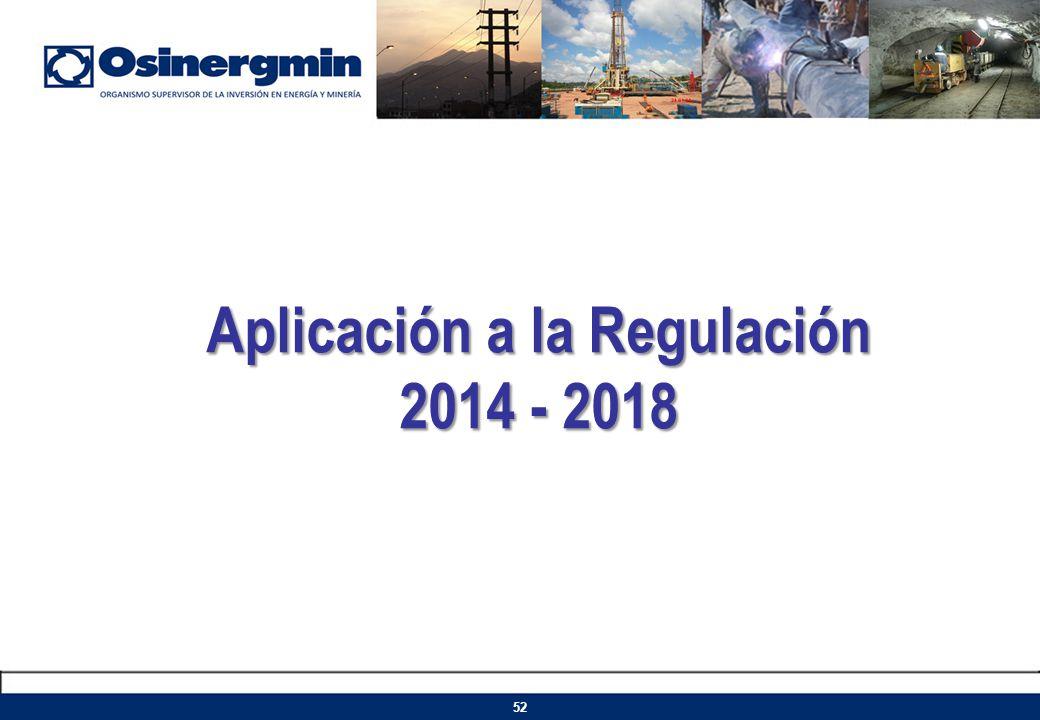Aplicación a la Regulación 2014 - 2018
